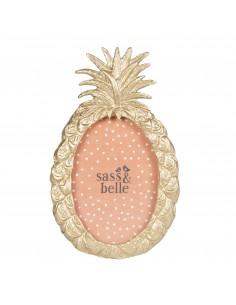Auksinės spalvos nuotraukų rėmelis ananaso formos