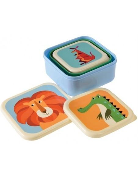 Priešpiečių dėžutės vaikams sudėtos viena į kitą
