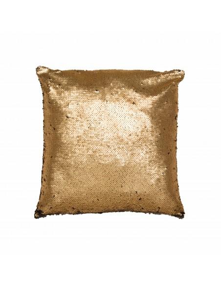Auksinės spalvos pagalvės viršus