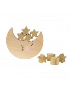 Medinis balansavimo žaislas vaikams, mėnulis ir žvaigždės