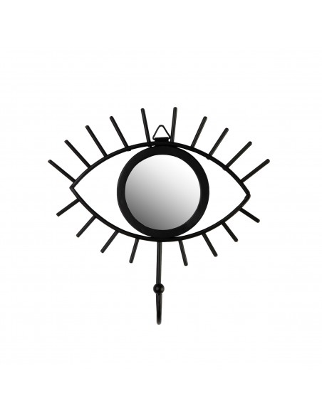 Juodas  kabliukas su veidrodžiu akies formos