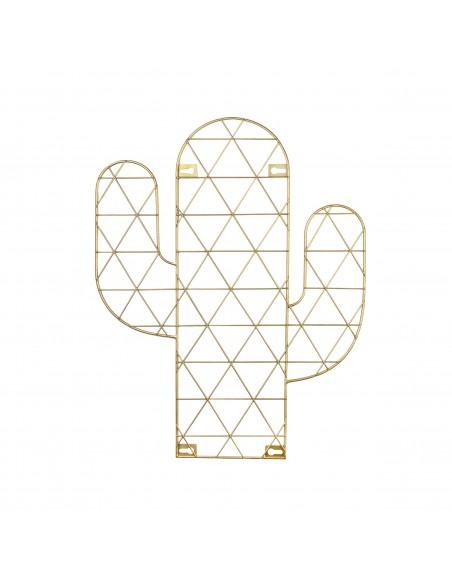 Aukso spalvos sieninis nuotraukų laikiklis kaktuso formos