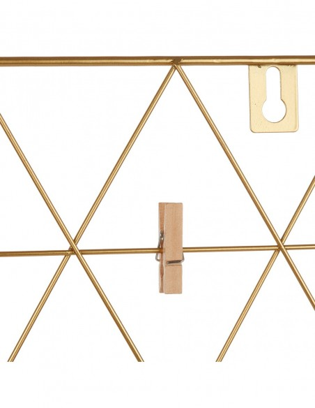 Aukso spalvos sieninis nuotraukų laikiklis su segtuku