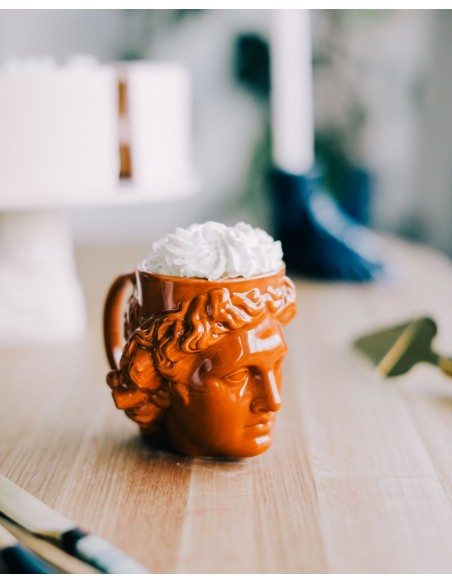 atvaizduojantis graikų dievo Apolono galvą