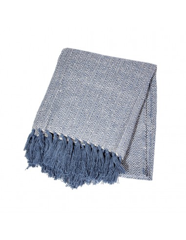 Medvilninis Pledas - Japandi Blue